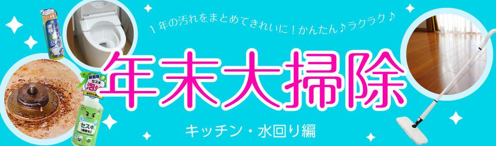 年末大掃除-キッチン・水回り編-