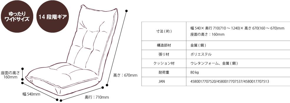 ソファ座椅子_商品情報