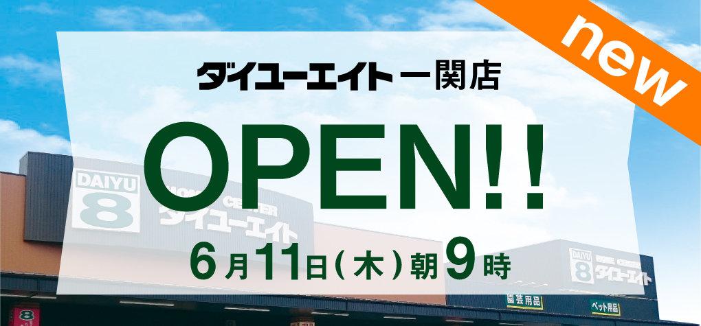 ダイユーエイト一関店 オープン!!